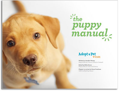 Free Puppy Manual from Adopt-a-Pet.com